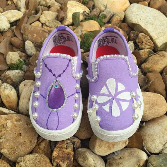 KIDS Hand Painted Sofia the First inspired by SistersHead2Toe