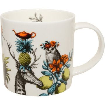 Menagerie Mug Owl White by Repeat Repeat http://www.onebrowncow.co.uk/mugs-and-tableware/repeat-repeat/animal-mugs/menagerie-mug-owl-white-by-repeat-repeat/prod_5187.html