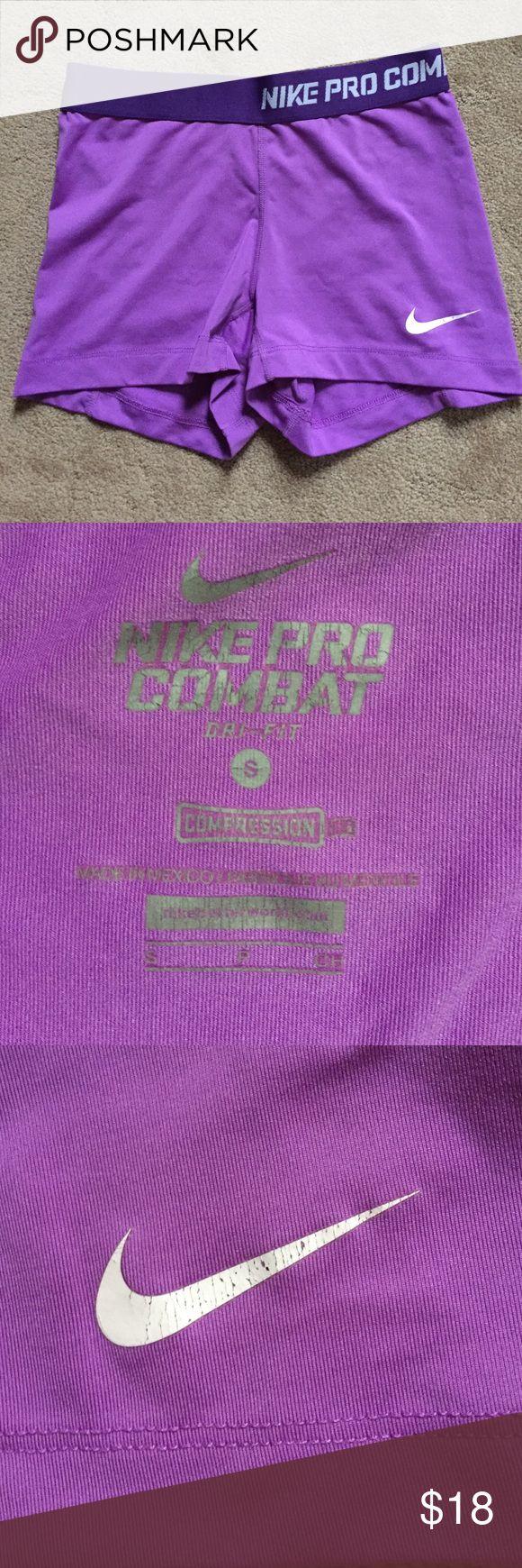 Purple Nike Pro Combat Shorts Perfect condition! Nike Shorts