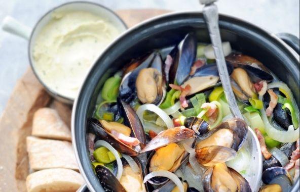 Bretonse mosselen - Recepten - Mosselen kunnen altijd!