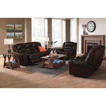 galveston leather 3 pc reclining living room value city furniture