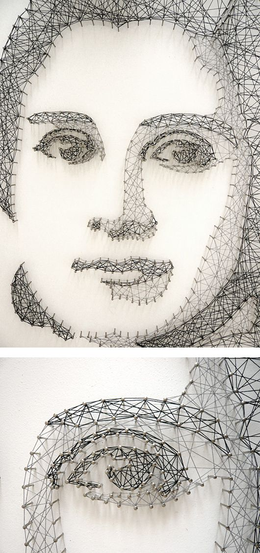 Thread  Nail Portraits by Pamela Campagna | Inspiration Grid | Design Inspiration