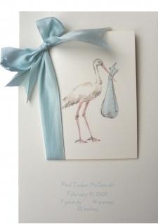 So elegant! (Stork - Blue)