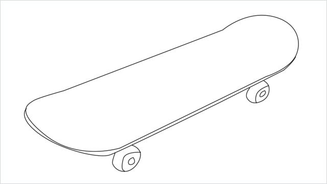 Easy 6 Steps To Learn How To Draw A Skateboard With Step By Step Guide Mini Drawings Easy Drawings Something Easy To Draw
