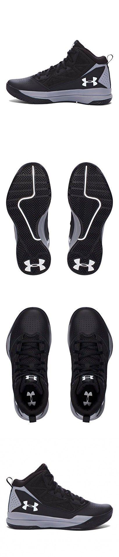 Under Armour Boys' Grade School Jet Mid Basketball Shoes (Big Kid), Black/White, 3.5 M US Big Kid