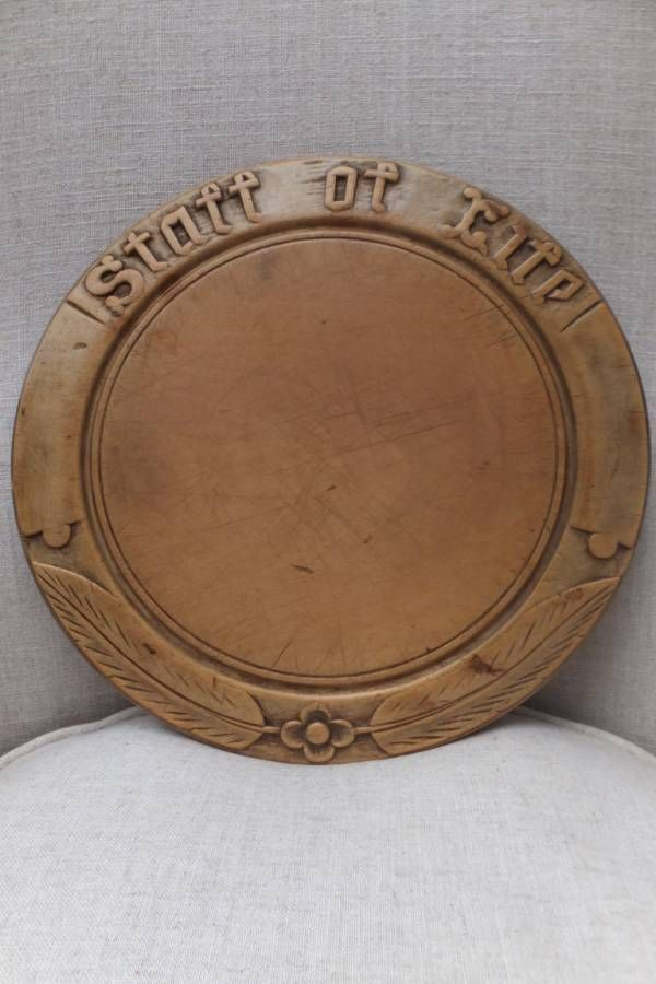 Victorian Hand Carved Bread Board - Staff of Life
