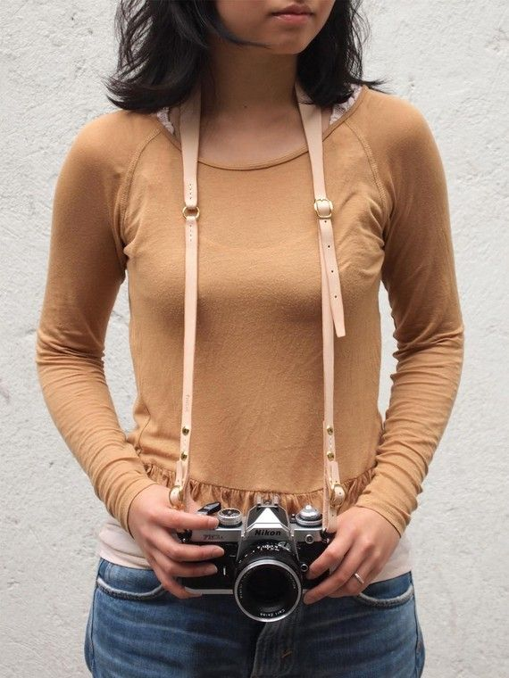 Personalized Camera Neck Strap with Adjustable Length  by harlex, $89.00... nude or brown?  for the old film camera...