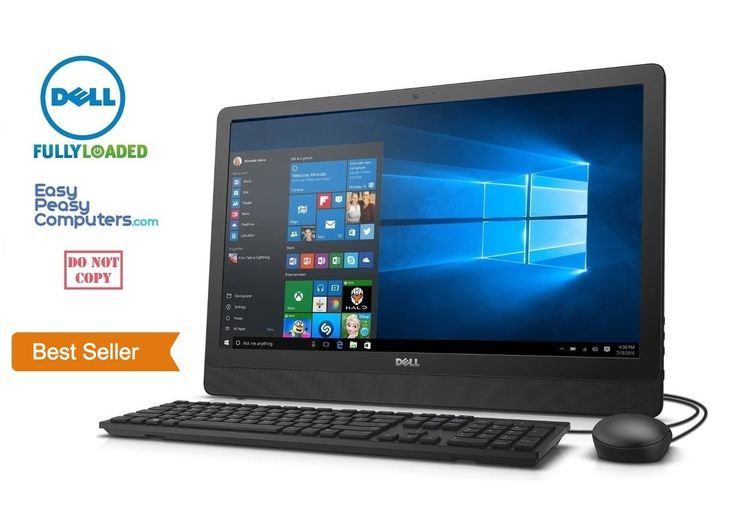 "Cheap Computers - NEW DELL All in One Desktop Computer 19.5"" Windows 10 WiFi DVD+RW (FULLY LOADED) - EasyPeasyComputers"