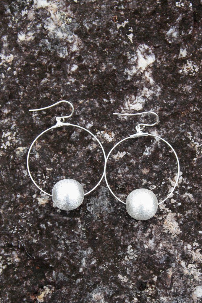 Sterling silver coated silver hoop earrings