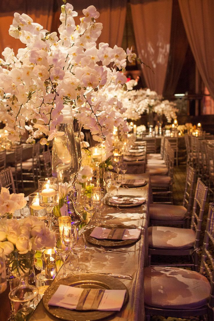 15 Stunning Orchid Themed Wedding Centerpieces - MODwedding