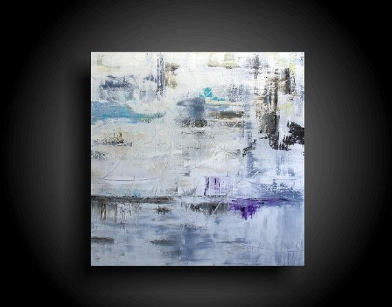 Extra Large Abstract Painting 48 x 48 Original by therawcanvas