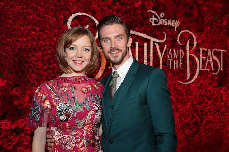 Ever Just the Same from Beauty and the Beast Premieres Around the World  Susie Hariet joins her husband Dan Stevens for a photo op at the El Capitan Theatre in Hollywood.