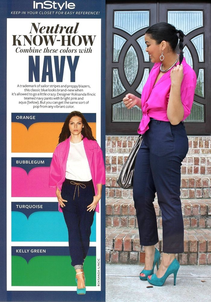 Inspired By Instyle Neutral Know How Navy Mixin Matchin Style Fashion To Wear