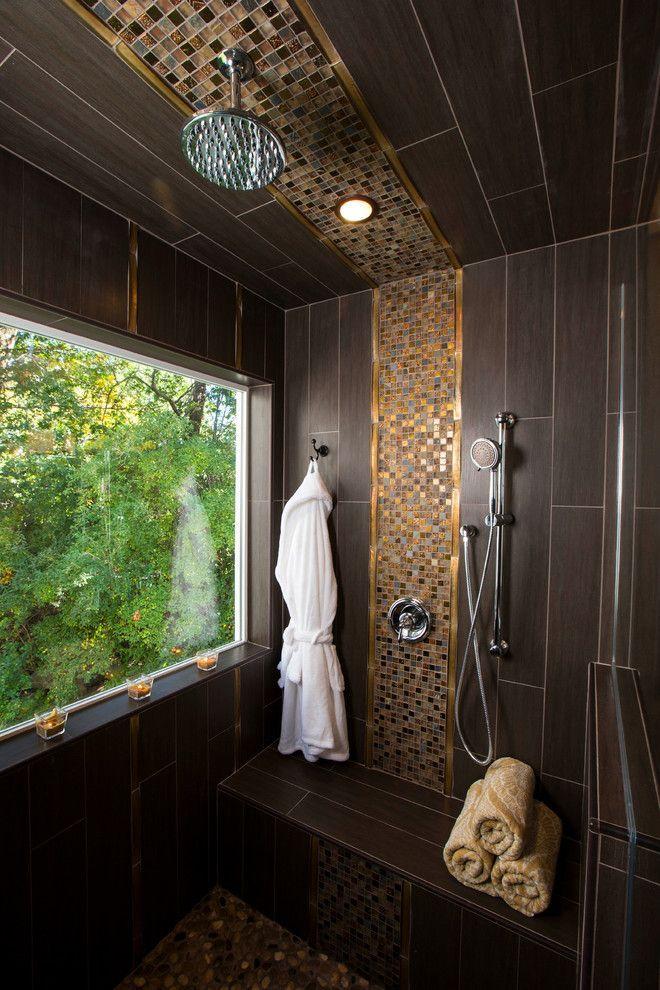 Отделка ванной комнаты плиткой: мозаика, пэчворк и 50+ самых свежих дизайнерских трендов http://happymodern.ru/otdelka-vannoy-komnati-plitkoy/ Plitka_v_vannoj_53