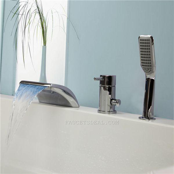 18 best LED Bathtub Faucets images on Pinterest | Bathtub faucets ...
