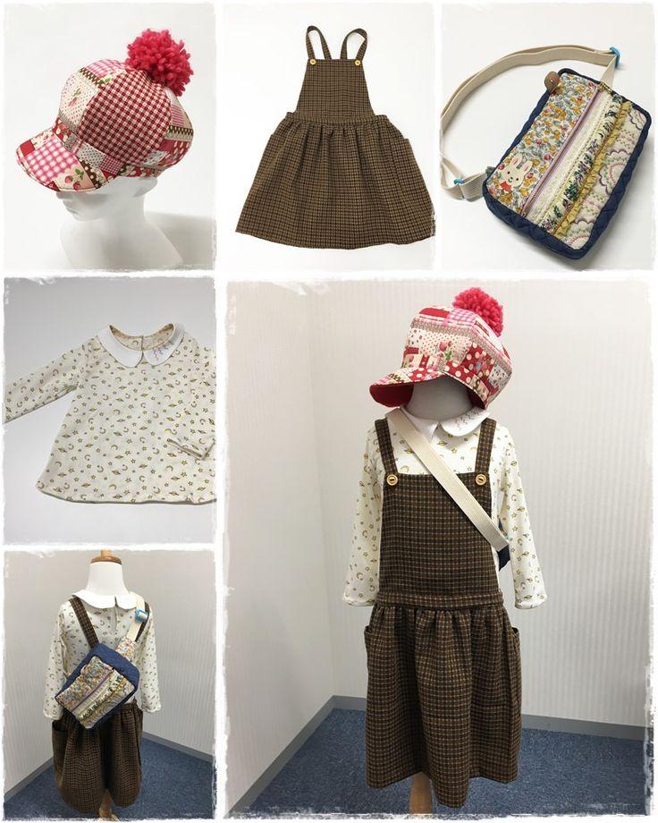 帽子の内布にはフリース、余っていた毛糸はボンボンにしててっぺん と、秋冬仕様に◎ジャンプスカートもウール混で冬支度も完ぺき!お花をイメージして円形にミシンの縫い模様を施したボディバッグはママの力作^^ #preparationforwinter #effort #woolensuit #fleece #circlestitch #bodybag #forkids #sewing #handmade #JAGUAR #ボディバッグ #ボンボン帽子 #ニットシャツ #ジャンプスカート