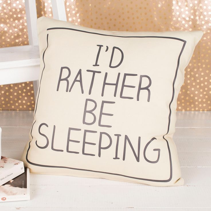 Personalised Natural Cushion - I'd Rather Be | GettingPersonal.co.uk