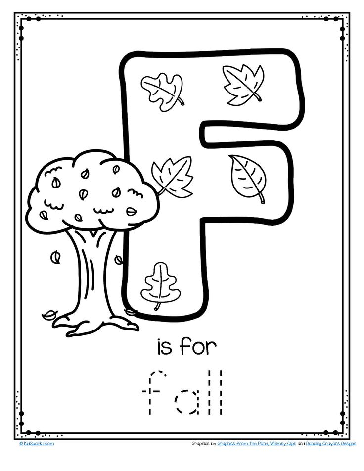 ***FREE*** F is for fall trace and color letter printable