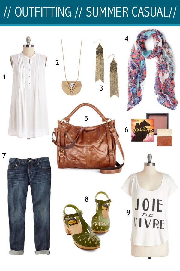 OUTFITTING: SUMMER CASUAL: Summer Casual, Summer Wardrobes, Schools Outfits, Style Schools, Everyday Casual, Ideal Style