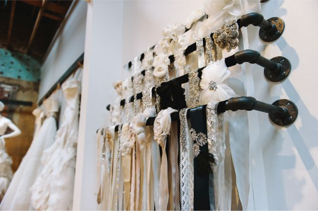 Anna Be Bridal Boutique / Chowen Photography  Love the accessories!