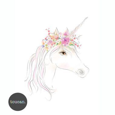 Toucan Unicorn Print A3