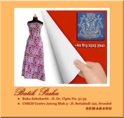 Beragam batik tulis & batik cap asli dari Semarang