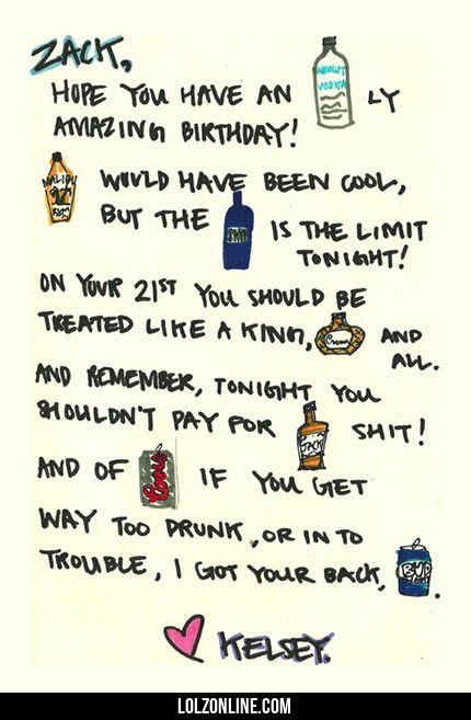 Last minute birthday card…