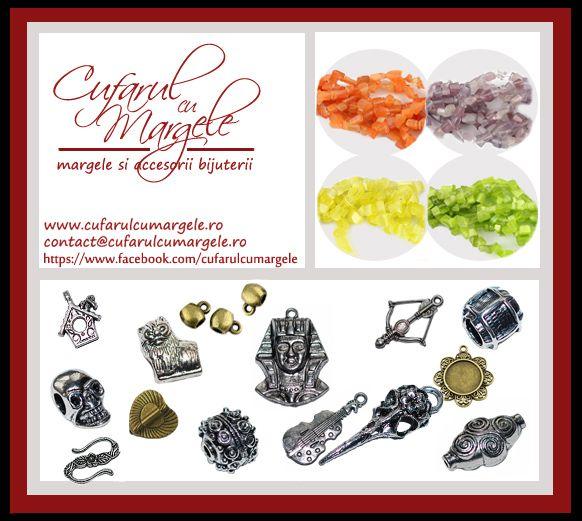 Magazin online comercializare margele si accesorii bijuterii, materiale necesare confectionarii bijuteriilor handmade. www.cufarulcumargele.ro