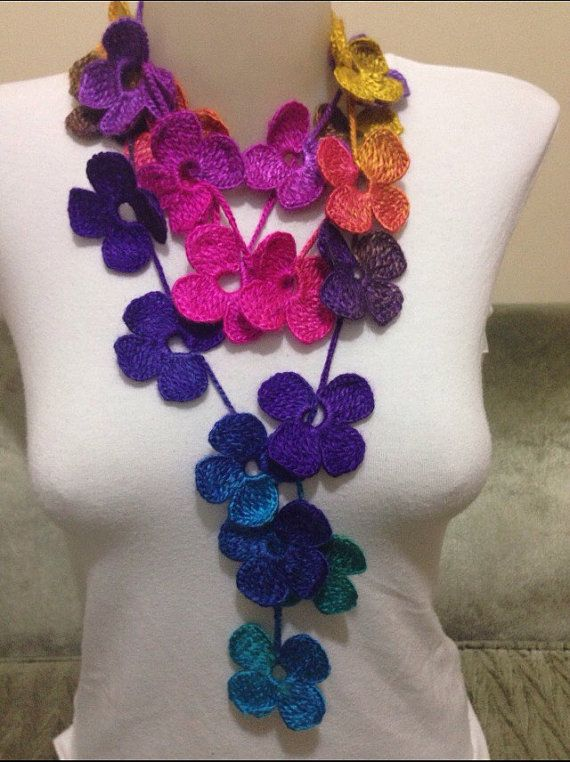 BUY 3 GET 1 FREE Floral Colourful Crochet by Yellowcrochet on Etsy