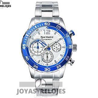 Maravilloso ⬆️✅ Viceroy Real Madrid 40965-05 ⬆️✅ , Modelo perteneciente a la Colección de RELOJES VICEROY ➡️ PRECIO 105.19 € En Oferta Limitada en  https://www.joyasyrelojesonline.es/producto/reloj-viceroy-real-madrid-caballero-40965-05-acero-crono/  ¡¡No los dejes Escapar!! #Relojes #RelojesViceroy #Viceroy