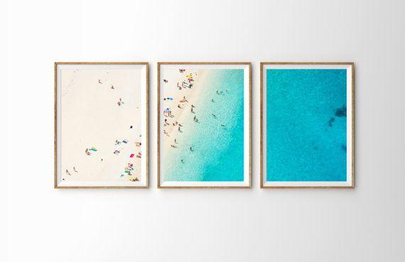 3-Piece Set Large Bondi Beach Poster Print // by DaydriftPrints