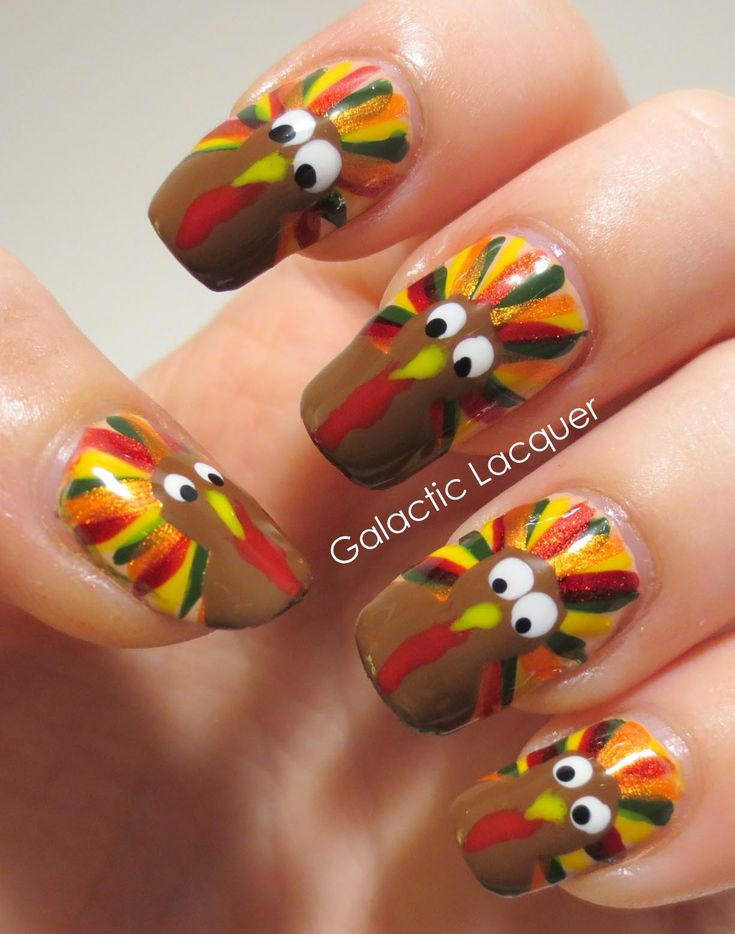 25 Best Ideas About Thanksgiving Nail Art On Pinterest Designs