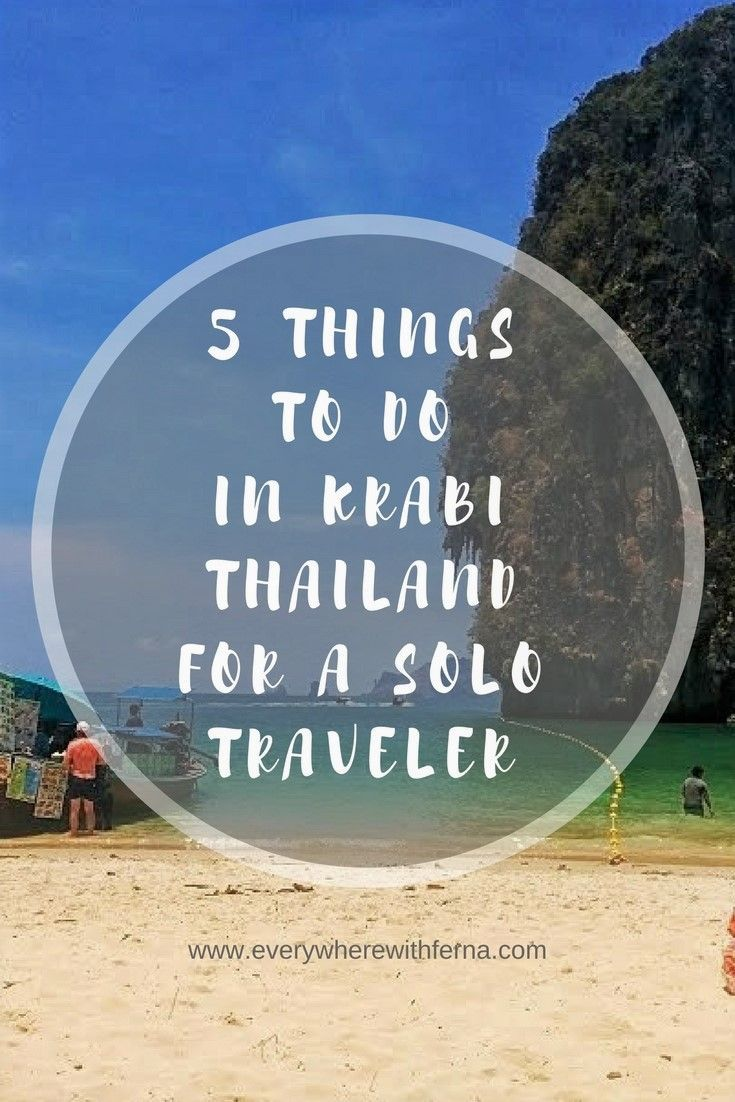 Here are the top things to do in Krabi, Thailand, especially if you're a solo traveler. From hiking to yoga to visiting Railay Beach, you won't get bored in Krabi.