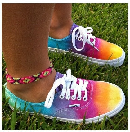 Rainbow Tie Dye Vans. I HAVE TO GET THESE FOR MY GIRLS...