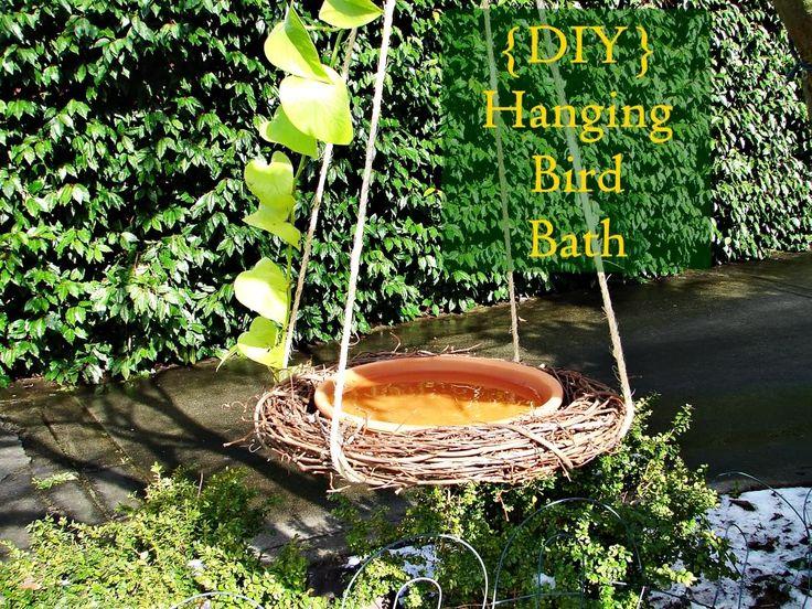 Hanging Bird Bath Deck Patio Garden Pinterest