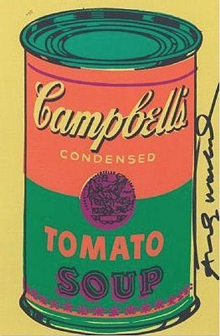 andy warhol campbell 39 s tomato soup art ii pinterest. Black Bedroom Furniture Sets. Home Design Ideas