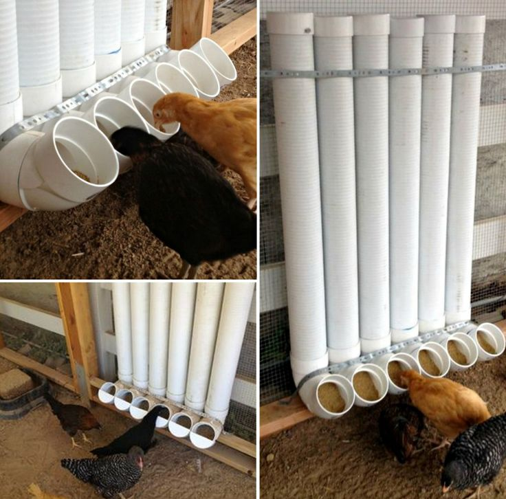 PVC Chicken Feeder - a shorter version of this would work in Marleys outdoor rabbit hutch. Cap it - will keep the rain out.
