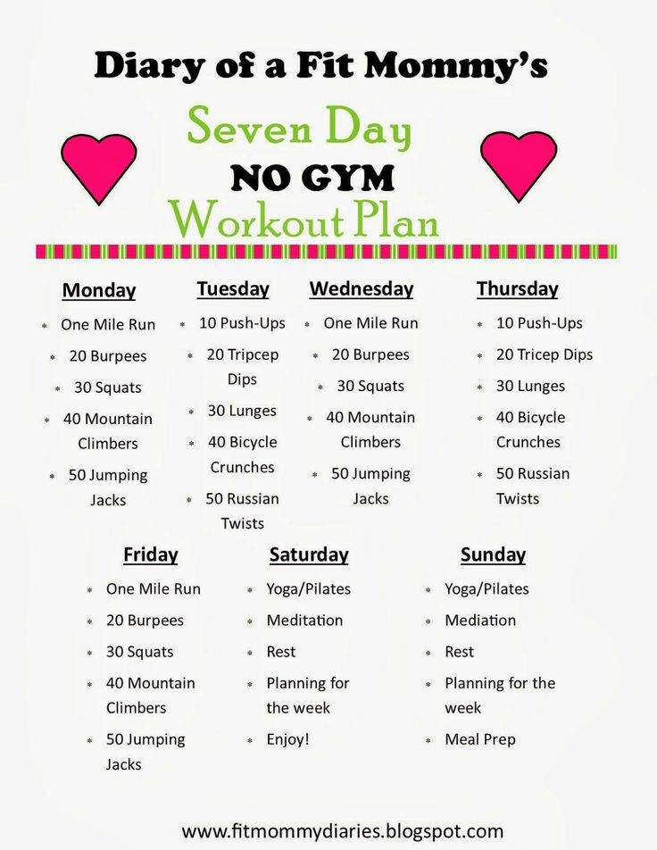 Diary of a Fit Mommy: Diary of a Fit Mommy's 7 Day NO GYM Workout Plan. I COULD DO THIS!