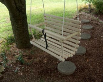 Childs swing children toddlers handcrafted swing by Quarrydesigns