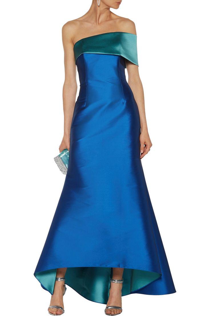 Noir Sachin & Babi Sadie asymmetric duchesse satin gown