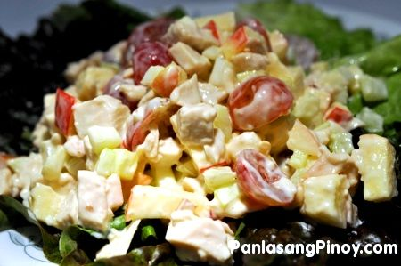 Chicken Salad with Apples and Grapes