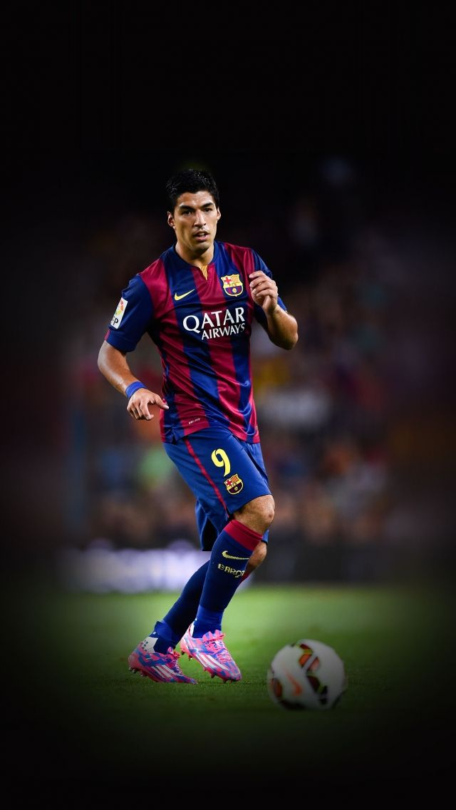 Download Free Hd Wallpaper From Above Link Barcelona Suarez Football Player Sports In 2020 Blue Background Patterns Sports Wallpapers Background Patterns