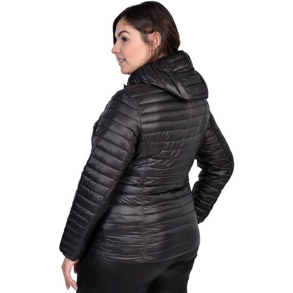 Nuage Packable Down Coat Women's Plus Size (Black 1X) ($70) ❤ liked on Polyvore featuring outerwear, coats, black, plus size, womens plus size down coats, plus size down coats, long down coat, womens plus coats and womens plus size coats