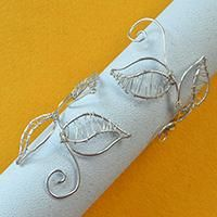 Wire Jewelry Tutorial On Making a Silver Wire Wrapped Flower Arm Cuff Bracelet