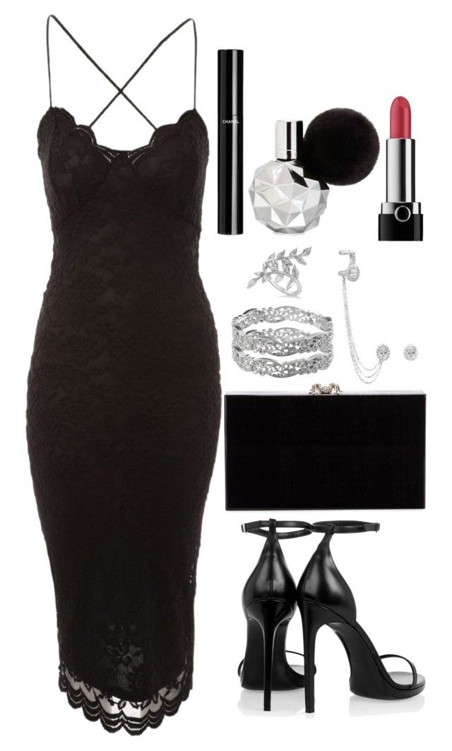"""Untitled #3988"" by natalyasidunova ❤ liked on Polyvore featuring Jane Norman, Charlotte Olympia, Avenue, Messika, Chanel, Marc Jacobs, Allurez and Yves Saint Laurent"