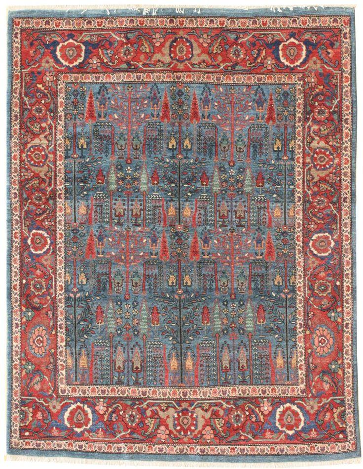 Geometric Oriental Rug Gallery: Persian Bijar Rug, Hand-knotted in Persia; size: 5 feet 1 inch(es) x 6 feet 6 inch(es)