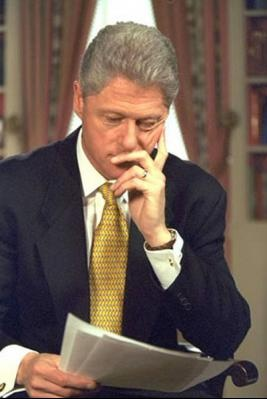 President Clinton. Photograph from the William J. Clinton Presidential Library.