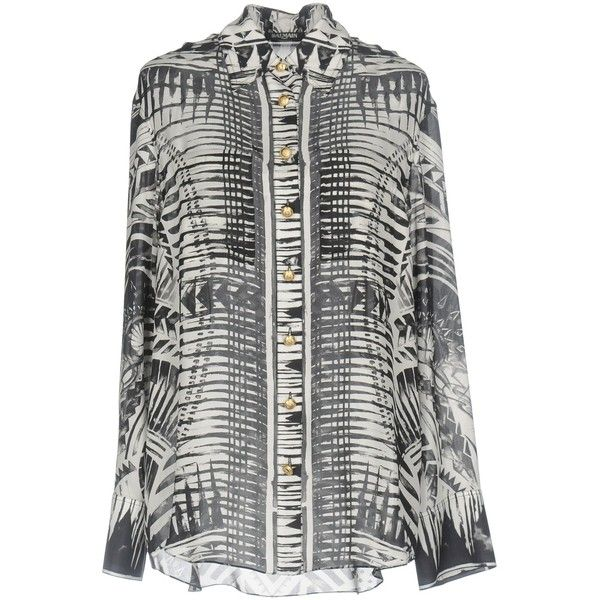 Balmain Shirt ($825) ❤ liked on Polyvore featuring tops, black, long sleeve tops, balmain top, balmain, long-sleeve shirt and long sleeve shirts