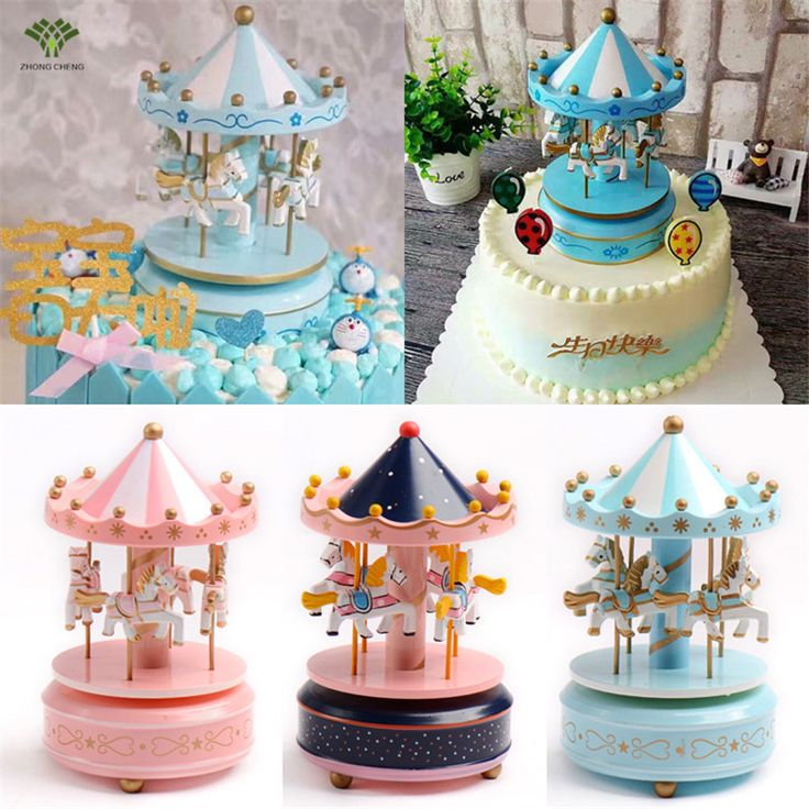 1PCS Carousel Cake Topper Wooden Carousel Music Box Birthday Cake Decoration Girl Children Birthday Christmas Wedding Gift 18cm-in Cake Decorating Supplies from Home & Garden on Aliexpress.com | Alibaba Group