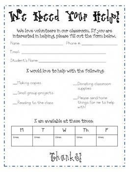 parent volunteer sign up sheet parental involvement parent
